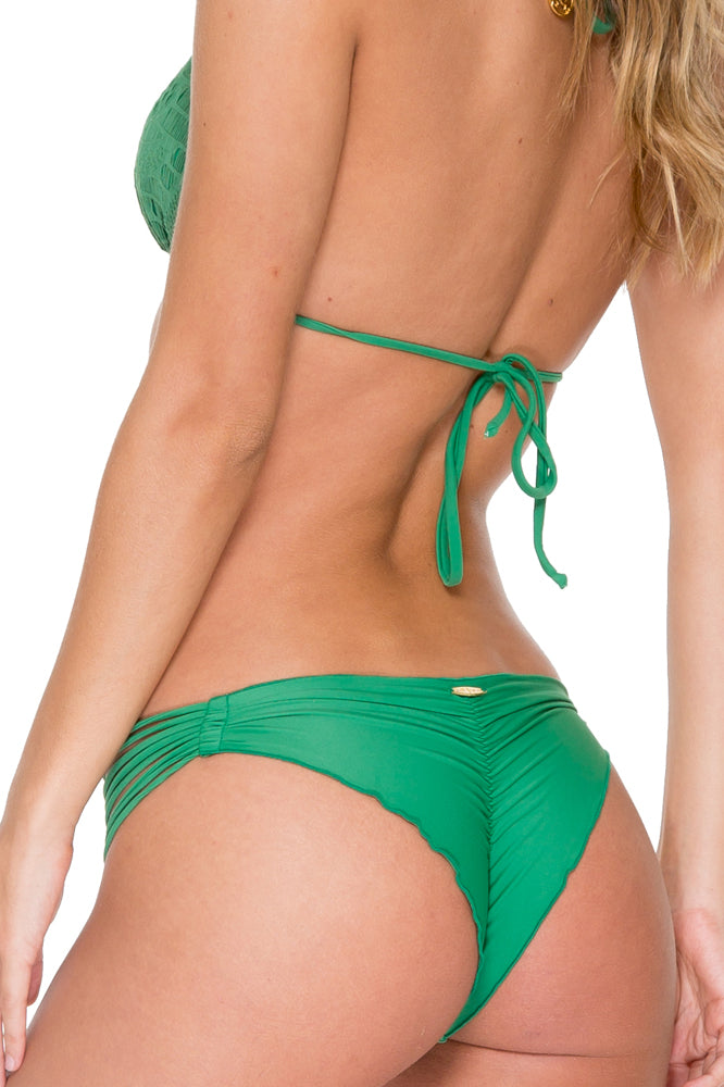 EL CARNAVAL - Triangle Top & Strappy Brazilian Ruched Back Bottom • Palma