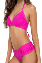 EL CARNAVAL - Push Up Underwire Top & Scrunch Ruched Back Brazilian Bottom • Fuchsia