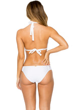 EL CARNAVAL - Triangle Halter Top & Full Bottom • White