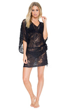 EL CARNAVAL - Cabana V Neck Dress • Black