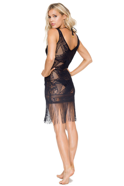 EL CARNAVAL - Flirty Fringe Dress • Black