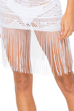 EL CARNAVAL - Flirty Fringe Dress • White