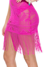 EL CARNAVAL - Flirty Fringe Dress • Fuchsia