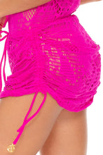 EL CARNAVAL - Fringe Off Shoulder Dress • Fuchsia (3522430894182)