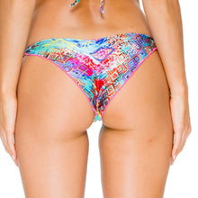 CAYO HUESO SO CLOSE - Wavey Ruched Back Brazilian Tie Side Bottom