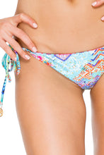 CAYO HUESO SO CLOSE - Triangle Top & Wavey Ruched Back Brazilian Tie Side Bottom • Multicolor