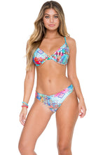 CAYO HUESO SO CLOSE - Underwire Adjustable Top & Seamless Full Ruched Back Bottom • Multicolor