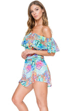 CAYO HUESO SO CLOSE - Fiesta Ruffle Dress • Multicolor