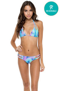 PALMARES - Zig Zag Knotted Cut Out Triangle Top & Reversible Zig Zag Open Side Moderate Bottom • Multicolor