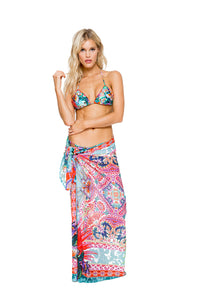 VIVA CUBA - Wavey Triangle Top & Pareo • Multicolor