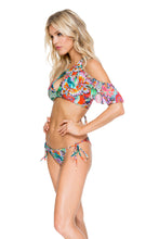VIVA CUBA - Bonita Top & Wavey Ruched Back Brazilian Tie Side Bottom • Multicolor