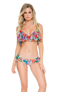 VIVA CUBA - Ruffle Underwire Halter Top & Morena Moderate Bottom • Multicolor