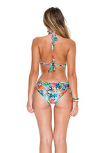 VIVA CUBA - Triangle Halter Top & Drawstring Side Full Bottom • Multicolor