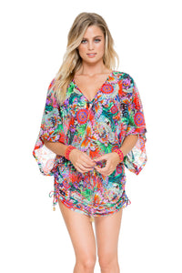 VIVA CUBA - Cabana V Neck Dress • Multicolor
