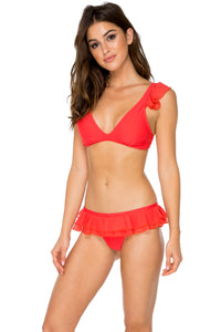 VIVA CUBA - Ruffle Halter Top & Casino Brazilian Bottom • Girl On Fire