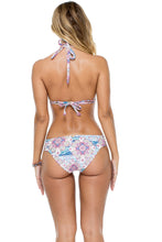 AZUCAR - Triangle Halter Top & Full Bottom • Multicolor