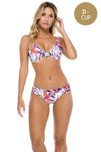 CIENFUEGOS - Underwire Adjustable Top & Scrunch Panty Full Bottom • Multicolor