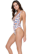 CIENFUEGOS - Deep V Reversible One Piece Bodysuit • Multicolor