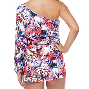 CIENFUEGOS - One Shoulder Split Sleeve Romper