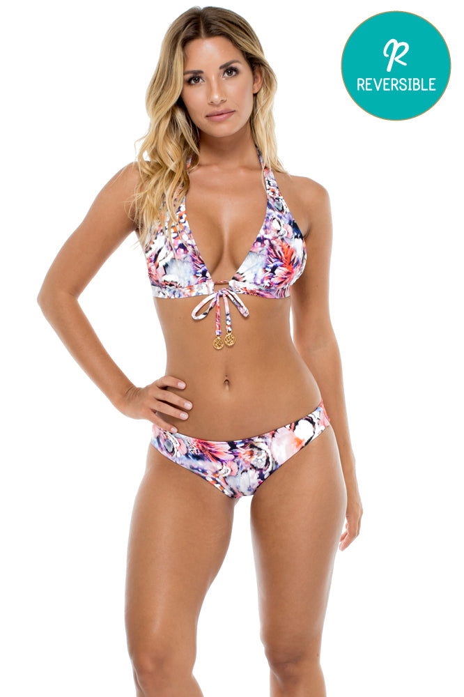 CIENFUEGOS - Daniela Halter Top & Seamless Full Ruched Back Bottom • Multicolor