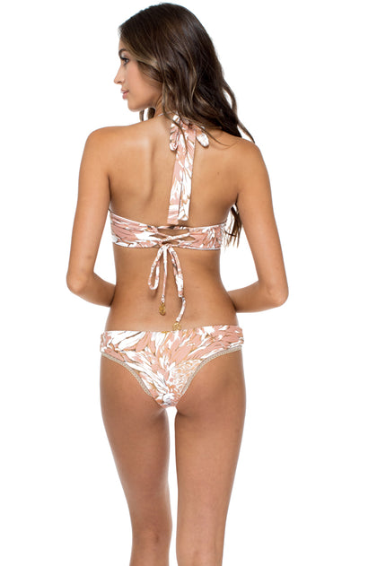 AMOR TABACO Y RON - Push Up Underwire Top & Lo Rise Seamless Skimpy Bottom • Rose Gold