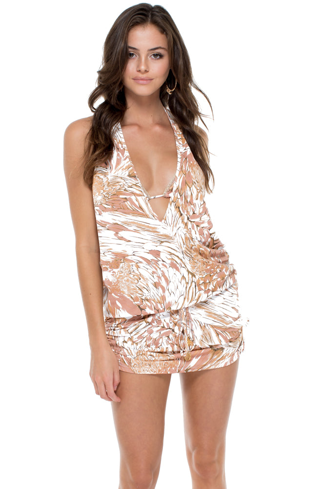AMOR TABACO Y RON - T Back Mini Dress • Rose Gold