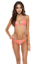 GUAGUANCO - Triangle Top & Wavey Ruched Back Brazilian Tie Side Bottom • Mamey