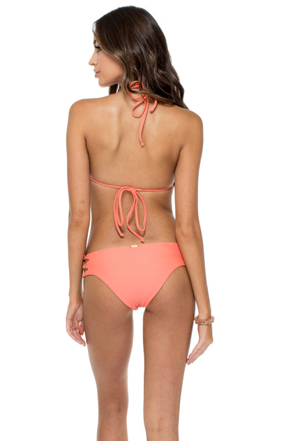 GUAGUANCO - Molded Push Up Bandeau Halter Top & Caribe Moderate Bottom • Mamey