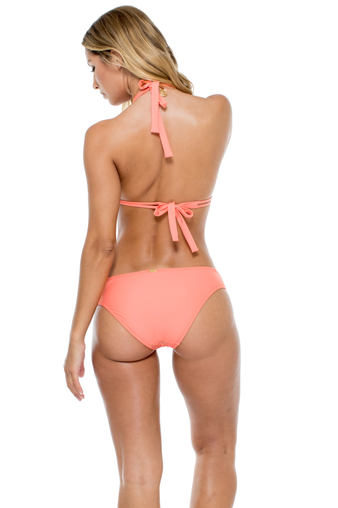 GUAGUANCO - Triangle Halter Top & Scrunch Panty Full Bottom • Mamey