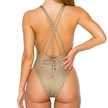COMPAI - Deep V Crossed Back One Piece