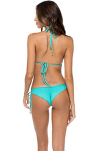 LA GLORIA CUBANA - Triangle Top & Wavey Ruched Back Brazilian Tie Side Bottom • Multicolor