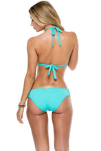 LA GLORIA CUBANA - Triangle Halter Top & Braided Side Full Bottom • Multicolor