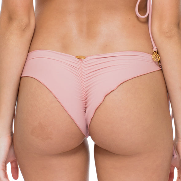 MAMBO - Wavey Ruched Back Brazilian Tie Side Bottom
