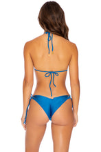 MAMBO - Triangle Top & Wavey Ruched Back Tie Side Bottom • Cove Blue