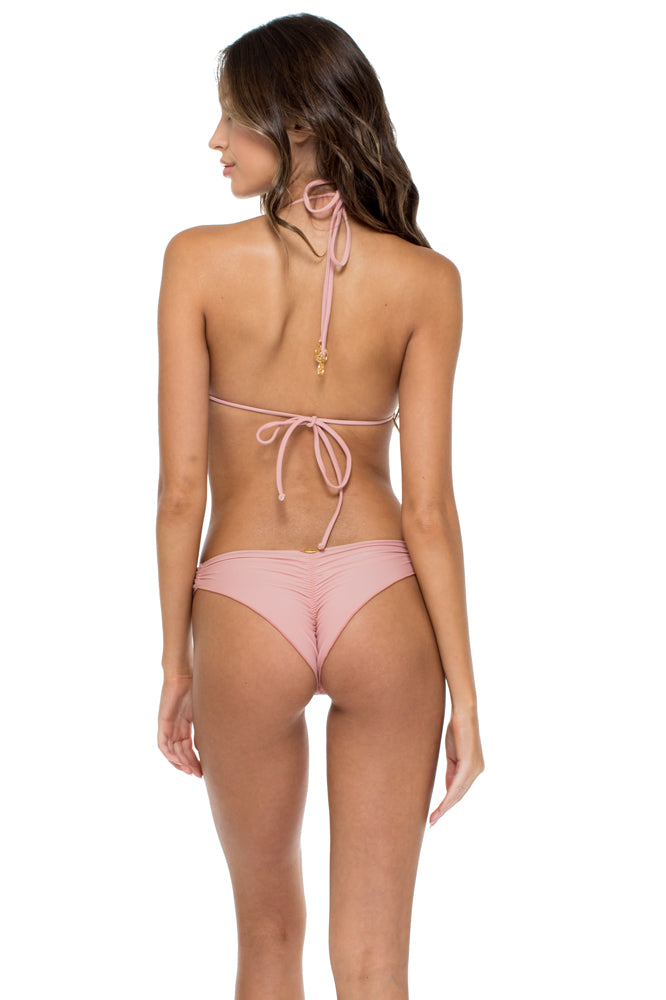 MAMBO - Triangle Top & Strappy Brazilian Bottom • Rosa