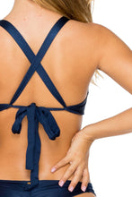 MAMBO - Lulu Halter Top & Strappy Brazilian Bottom • Marino