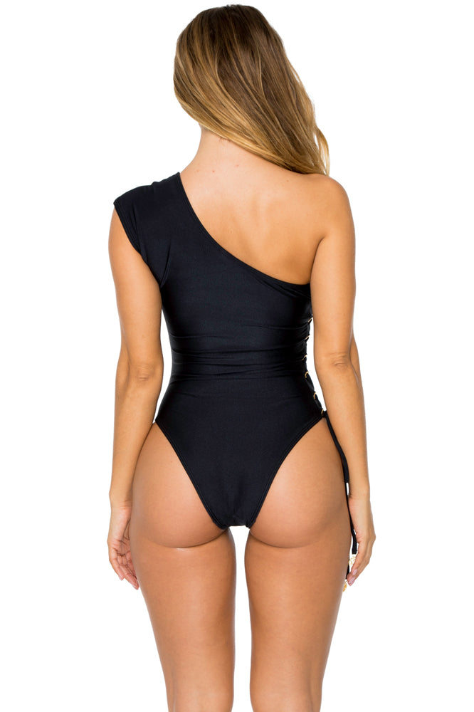MAMBO - Divina One Piece Bodysuit • Black