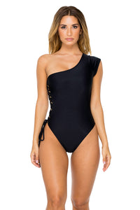 MAMBO - Divina One Piece Bodysuit • Black (874569170988)