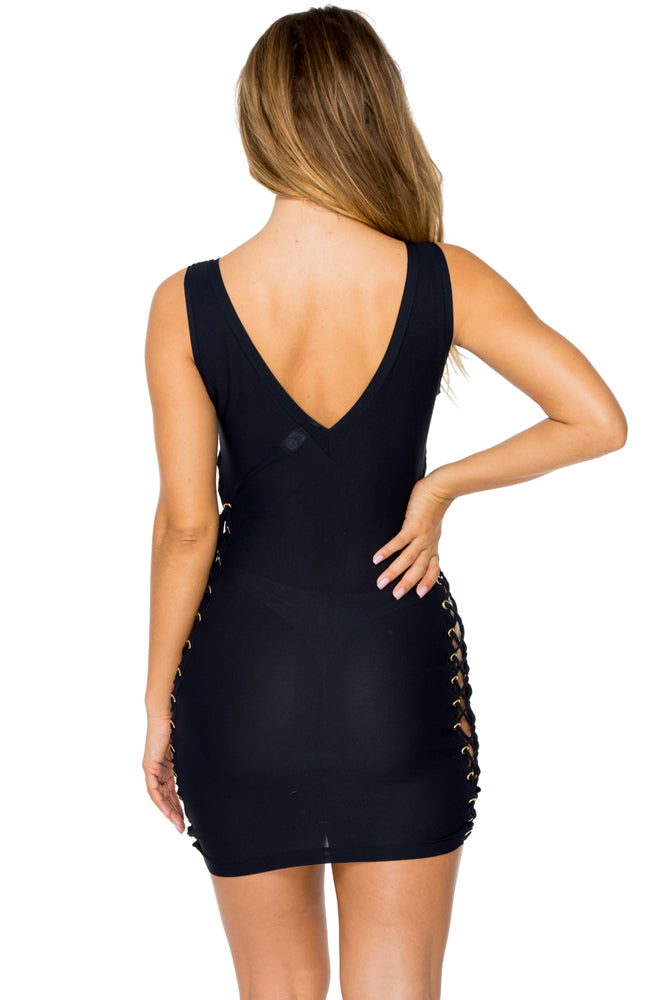MAMBO - Open Sides Bodycon Dress • Black