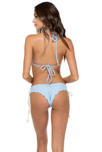 LA CORREDERA - Triangle Top & Ruched Back Brazilian Bottom • Cielo