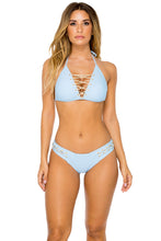LA CORREDERA - High Neck Top & Brazilian Bottom • Cielo (874565304364)