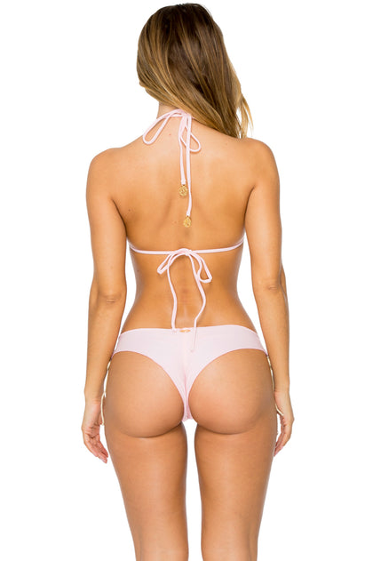 LA CORREDERA - High Neck Top & Ruched Back Brazilian Bottom • Niña