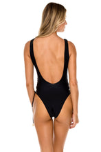 LA CORREDERA - Open Side One Piece Bodysuit • Black
