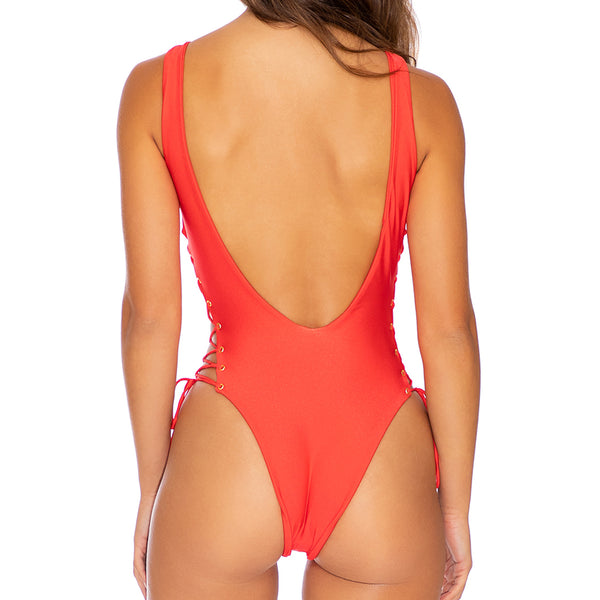 LA CORREDERA - Open Side One Piece Bodysuit-EJC