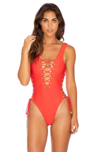 MAMBO - Open Side One Piece Bodysuit • Luli Red