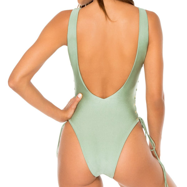 LA CORREDERA - Open Side One Piece Bodysuit (844639141932)