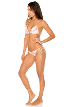 COSTA DE LUZ - Triangle Top & Wavey Ruched Back Brazilian Tie Side Bottom • Multicolor