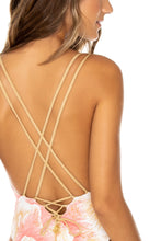 COSTA DE LUZ - Deep V Crossed Back One Piece • Multicolor