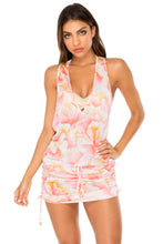 COSTA DE LUZ - T Back Mini Dress • Multicolor