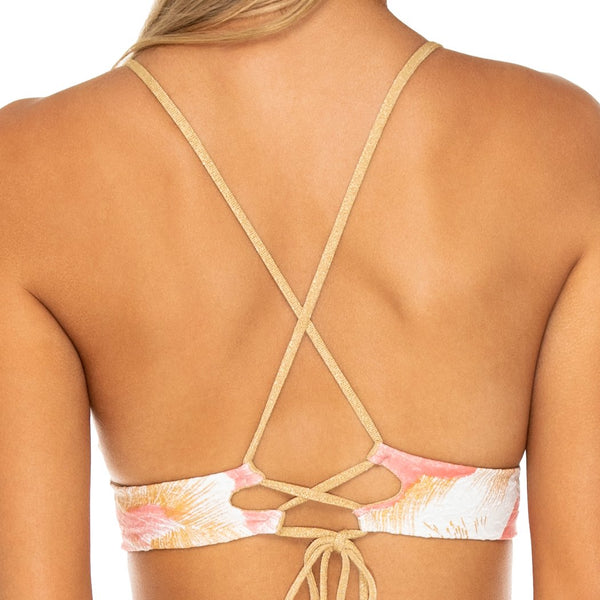 COSTA DE LUZ - Cross Back Bustier Top
